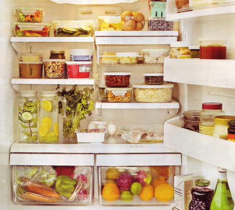 healthy refrigerator fruit and vegetables