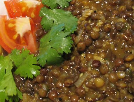 Whole Brown Lentils Curry