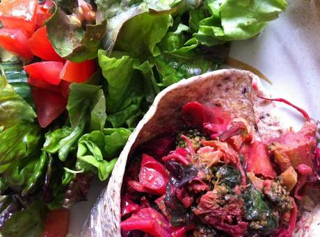 Pink Curry Veggie Wrap