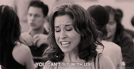 You Can't sit with us gif