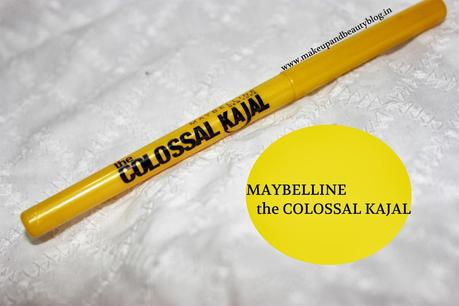 Maybelline the Colossal Kajal: Review, Swatch