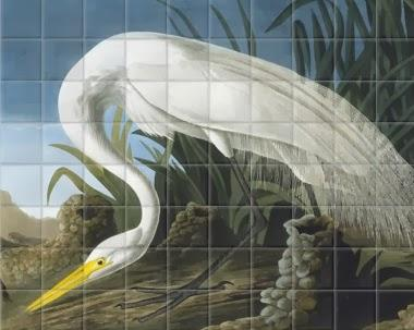 Audubon Inspired Bathroom By Farrow & Ball with SurfaceViews Tile!