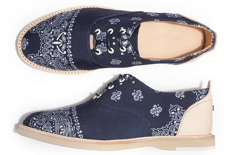The Hampton   Bandana Navy Shoe