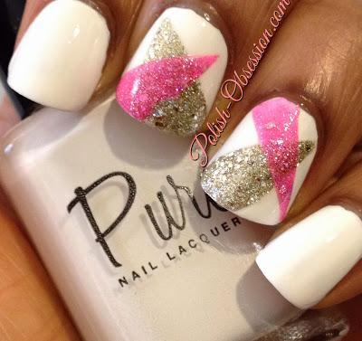 Busy Girl Nails Winter Nail Art Challenge- White