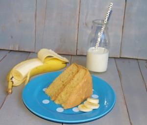 Banana Cake with Peanut Butter Icing - Kelli's Kitchen