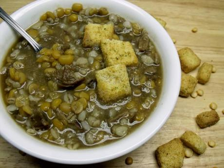 Guest Post: Split Pea and Porcini Mushroom Soup from Cindy's Recipes and Writings