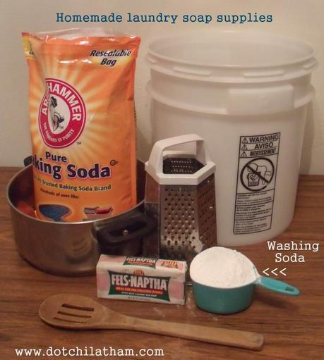 Homemade Laundry Soap WITHOUT Borax