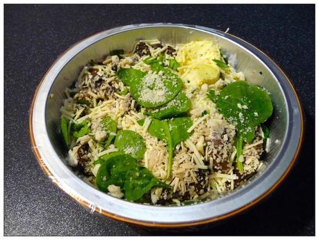 Mushroom & Spinach Gratin