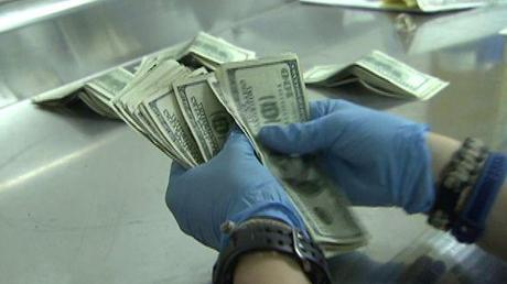 This gives a whole new meaning to the idea of dirty money!