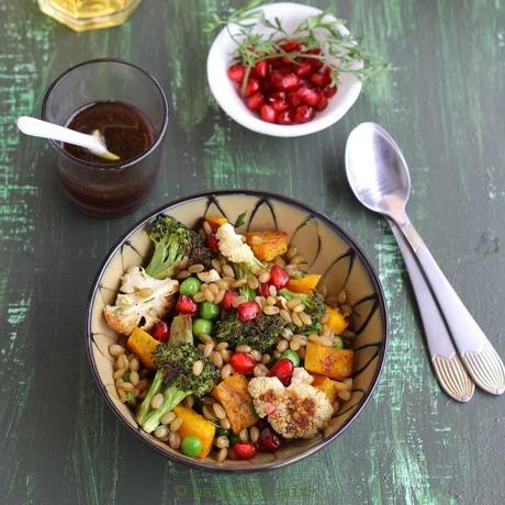 WHEAT BERRY SALAD W/ ROASTED WINTER VEGETABLES