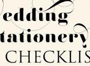 Your Wedding Stationery Checklist 2014