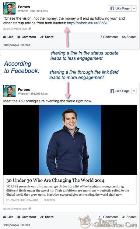 new facebook sharing tip