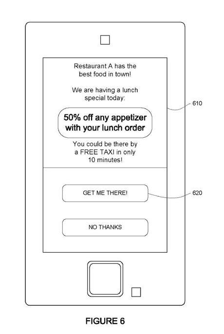 Google patent: google advertiser transportation ad