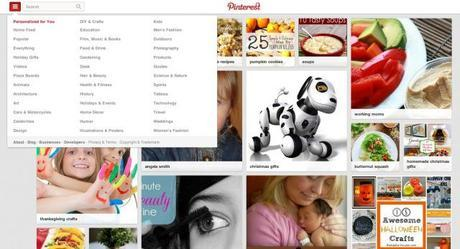 pinterest personalized home page