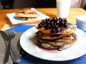 Blueberry Buckwheat Pancakes with Maple Syrup
