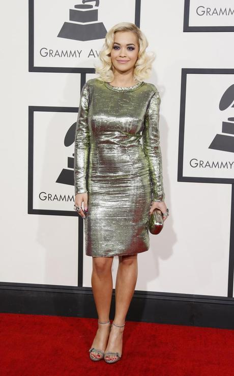 Rita Ora Red carpet grammys