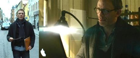 Is that a Dell he's using? Hewlett-Packard? Hm. Either way, it's subtle.