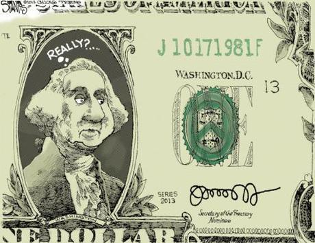 Jack Lew signature on dollar bill