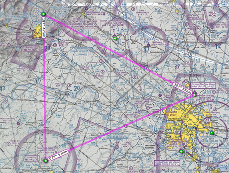 My Long Solo Cross Country Flight (Student Pilot Swayne Martin)