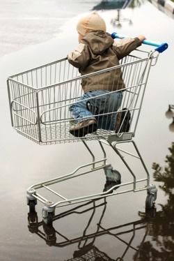 Rainy day shopping