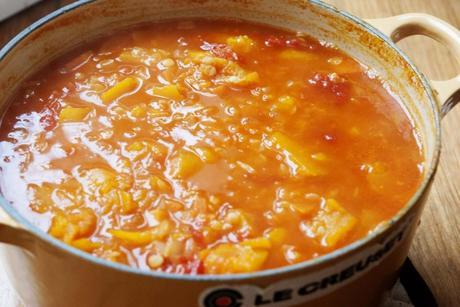 Red Lentil, Pumpkin and Tomato Soup