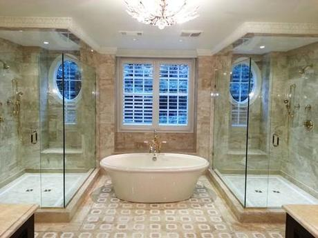 His and Hers Shower