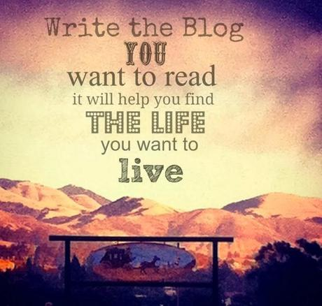 Write the Blog You Want To Read … part one