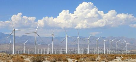 A wind farm spotted outside Palm Springs, California
