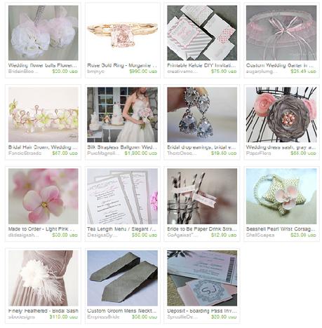 <Gray and Pink Wedding Treasury from Etsy Wedding Team on Etsy alt=