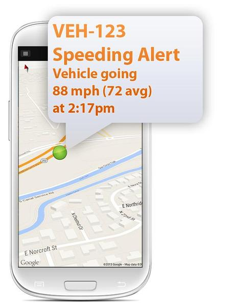 Example Speeding Alert