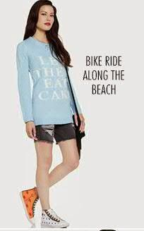 What to wear on bike ride along the beach