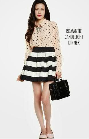 What to wear on a romantic candle light dinner