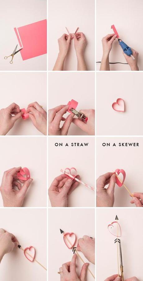 heart on a paper straw s day straws amp stirrers paperblog 6703