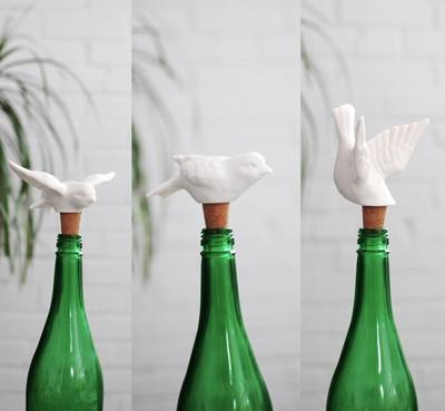 Birds of a Feather  Wine Stoppers Assorted Styles design by imm Living