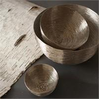 Food Safe Silver Bowl - Set of 3 by Tozai Home® - Free Shipping!