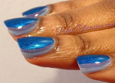 Busy Girl Nails Winter Nail Art Challenge - Blue