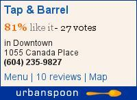 Tap & Barrel on Urbanspoon