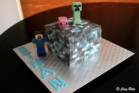 Minecraft Diamond Ore Cake