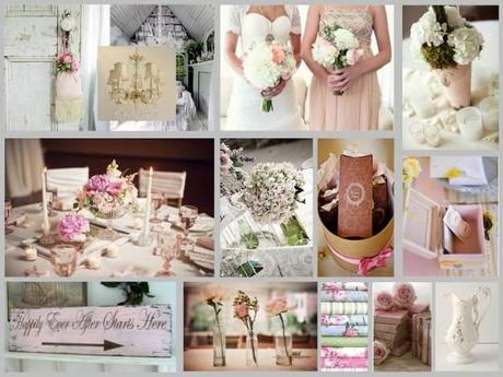 Shabby Chic wedding collage