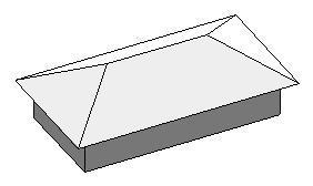Plain hip roof