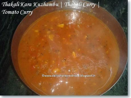 Thakali Kara Kuzhambu | Tomato Curry | Thakali Curry