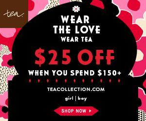 Save $25 Off of $150 at Tea Collection AND Raise Money for Your School!