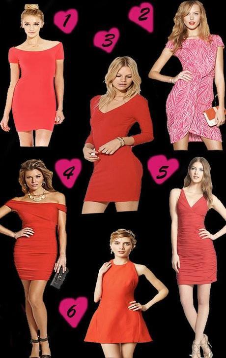 Red Hot V-Day Dresses