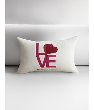 personalized love throw pillow cover - 18x18 ivory