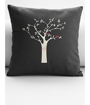 personalized tree initials throw pillow cover