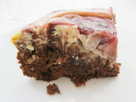 Cherry Cheesecake Coca Cola Brownies