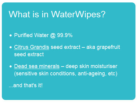 Review - Waterwipes Sensitive make up wipes