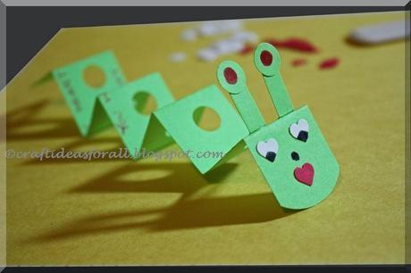 Handmade Valentine's Day Favor for Preschool Kids, Caterpillar Valentine's Day Craft Tutorial