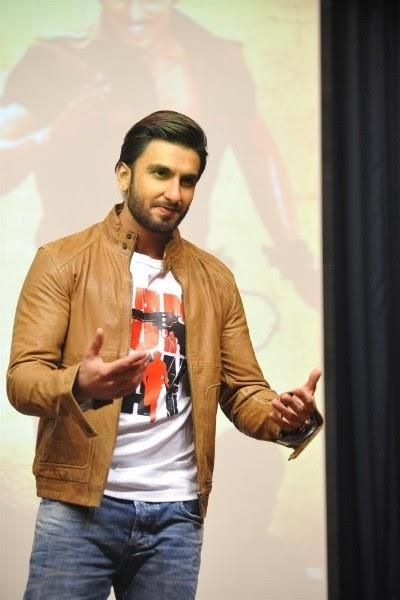 Ranveer Singh During Gunday Promotions - In GAS N.JADEN Jacket. and DIESEL ZATINY Denim.