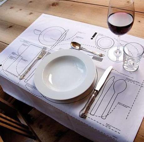Placemats That Teach You Table Etiquette Paperblog